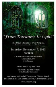 Opus Choral Fall 2015 Poster