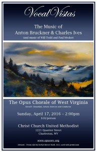 Opus Chorale Spring 2016 Poster