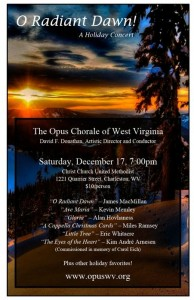 Opus Chorale Winter 2016 Poster